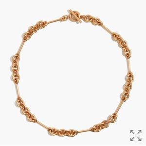 Madewell circle link choker necklace NWT